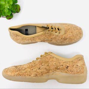 Stuart Weitzman Cork Sneakers Shoes 8.5